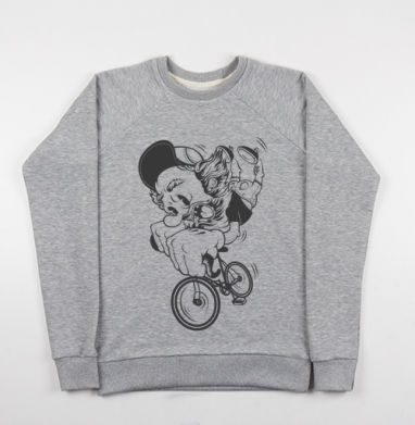 Fixed Gear - Купить детские свитшоты с велосипедом в Москве, цена детских свитшотов с велосипедом с прикольными принтами - магазин дизайнерской одежды MaryJane
