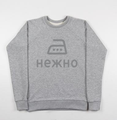 Гладить нежно - Купить детские свитшоты серые в Москве, цена детских свитшотов серых с прикольными принтами - магазин дизайнерской одежды MaryJane