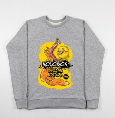 Kolobok (special edition) - Купить детские свитшоты со сказками в Москве, цена детских свитшотов со сказками  с прикольными принтами - магазин дизайнерской одежды MaryJane