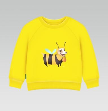 Пчелопёс, Cвитшот Детский желтый 240гр, тонкая