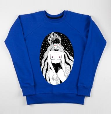 РУМЯНЕЦ - Cвитшот женский, синий 320гр, стандарт, Популярные
