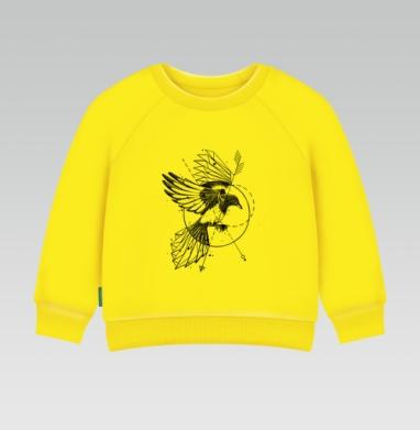 Сорока, Cвитшот Детский желтый 240гр, тонкая