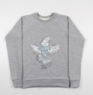 Свободный духом - Купить детские свитшоты с людьми в Москве, цена детских свитшотов с людьми  с прикольными принтами - магазин дизайнерской одежды MaryJane