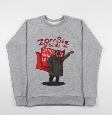 Zombie Apocalypse - Купить детские свитшоты СССР в Москве, цена детских свитшотов СССР  с прикольными принтами - магазин дизайнерской одежды MaryJane