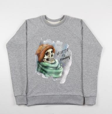 Зима лед Близко - Купить мужские свитшоты с акварелью в Москве, цена мужских свитшотов с акварелью  с прикольными принтами - магазин дизайнерской одежды MaryJane