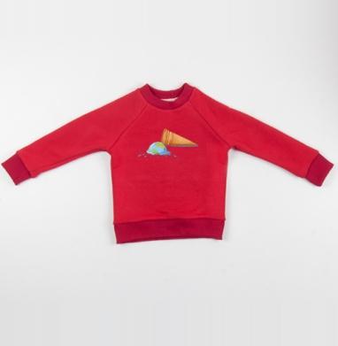 Вот, блин! - Cвитшот Детский красный 340гр, теплый, Популярные