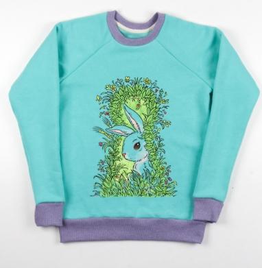 Солнечный кролик - Cвитшот женский ментол 340гр, теплый, Популярные