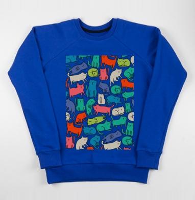 Киттикэтс - Cвитшот женский, синий 320гр, стандарт, Популярные