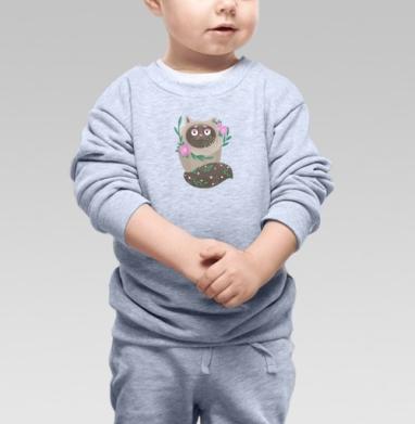 Кот Элвис - Купить детские свитшоты с кошками в Москве, цена детских свитшотов с кошками  с прикольными принтами - магазин дизайнерской одежды MaryJane