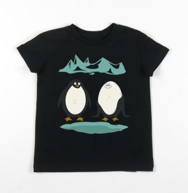 Детская футболка черная хлопок с лайкрой 140гр - ДЕЛАЙ КАК Я
