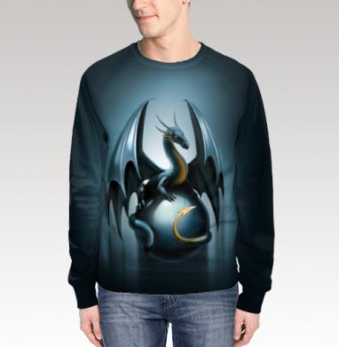 Дракон на стеклянном шаре, Свитшот мужской 3D