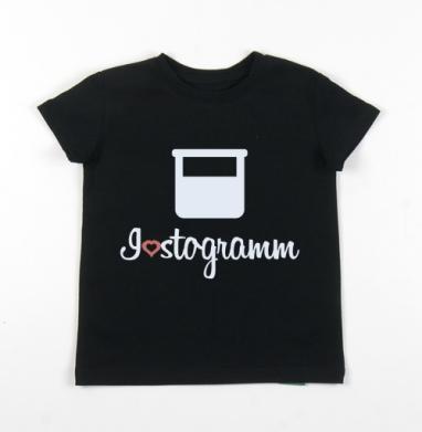 Детская футболка черная хлопок с лайкрой 140гр - 100 грамм...