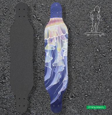 Медуза батик - Наклейки на лонгборд