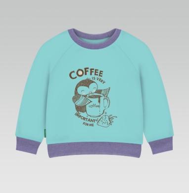Cвитшот Детский ментол 340гр теплый - Сова