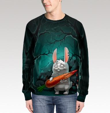 Кролик с морковкой, Свитшот мужской 3D