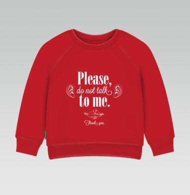 Cвитшот Детский ярко-красный 240гр, тонкий - Неразговорчивая футболка
