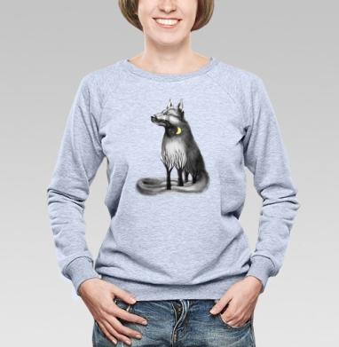 Пёс талисман - Купить женские свитшоты с природой в Москве, цена женских свитшотов с природой  с прикольными принтами - магазин дизайнерской одежды MaryJane