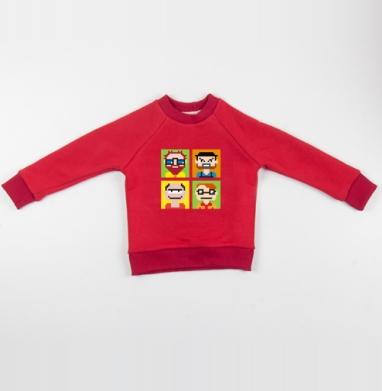 Cвитшот Детский красный 340гр, теплый - Аватар