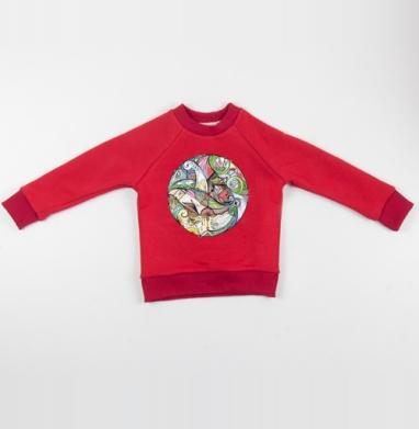 Cвитшот Детский красный 340гр, теплый - Свадебный круг