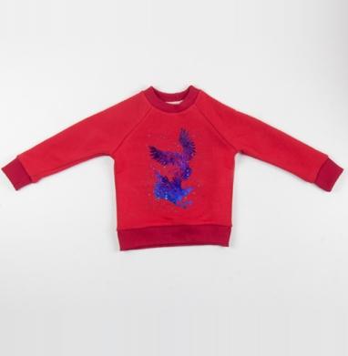 Вороны - Cвитшот Детский красный 340гр, теплый, Популярные