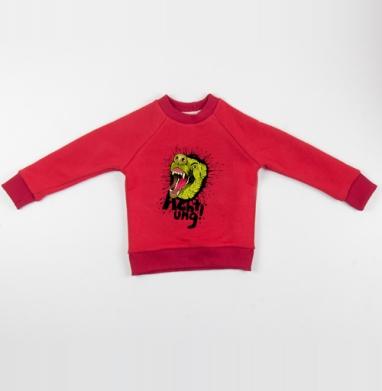 Cвитшот Детский красный 340гр, теплый - Achtung!