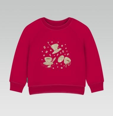 Cвитшот Детский темно-красный 340гр, теплый - КОФЕ РУЛИТ