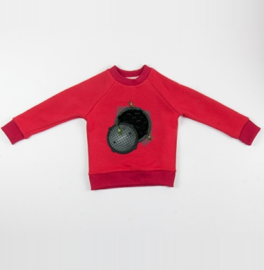 Cвитшот Детский красный 340гр, теплый - Страсти