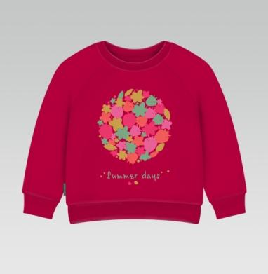 Cвитшот Детский темно-красный 340гр, теплый - Summer days