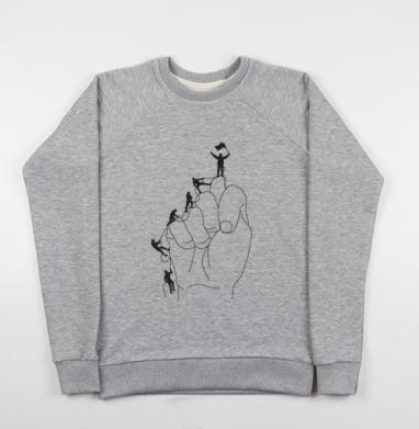 АЛЬПИНИСТЫ - Купить мужские свитшоты с горами в Москве, цена мужских свитшотов с горами с прикольными принтами - магазин дизайнерской одежды MaryJane