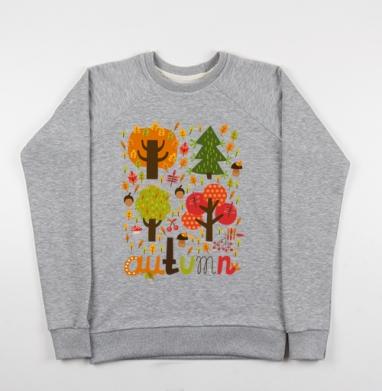 Autumn, Свитшот мужской серый-меланж 240гр, тонкий