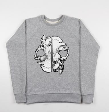 Коточереп - Купить мужские свитшоты серые в Москве, цена мужских свитшотов серых с прикольными принтами - магазин дизайнерской одежды MaryJane