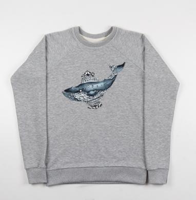 Не просто кит  - Купить мужские свитшоты морские  в Москве, цена мужских свитшотов морских   с прикольными принтами - магазин дизайнерской одежды MaryJane