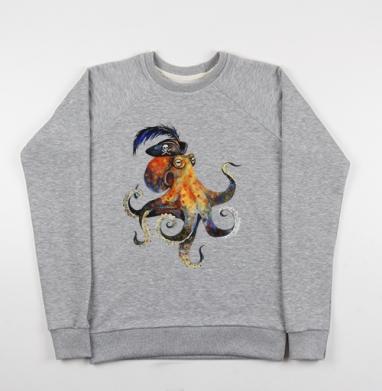 Пиратский осьминог - Купить мужские свитшоты морские  в Москве, цена мужских свитшотов морских   с прикольными принтами - магазин дизайнерской одежды MaryJane