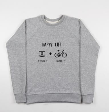 Счастливая жизнь - Купить мужские свитшоты свобода в Москве, цена мужских свитшотов свобода  с прикольными принтами - магазин дизайнерской одежды MaryJane