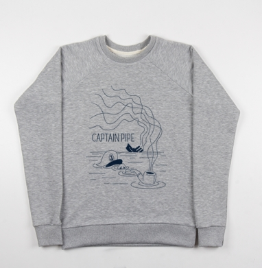 Трубка капитана - Купить мужские свитшоты морские  в Москве, цена мужских свитшотов морских   с прикольными принтами - магазин дизайнерской одежды MaryJane