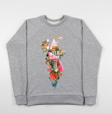 Wild surfer2 - Купить мужские свитшоты морские  в Москве, цена мужских свитшотов морских   с прикольными принтами - магазин дизайнерской одежды MaryJane