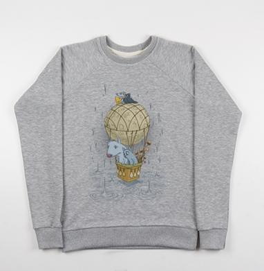 Magic journey - Купить мужские свитшоты серые в Москве, цена мужских свитшотов серых с прикольными принтами - магазин дизайнерской одежды MaryJane