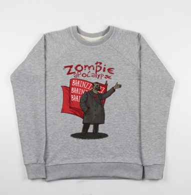 Zombie Apocalypse - Купить мужские свитшоты СССР в Москве, цена мужских свитшотов СССР  с прикольными принтами - магазин дизайнерской одежды MaryJane