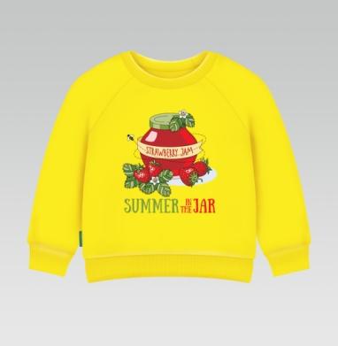 Лето в банке, Cвитшот Детский желтый 240гр, тонкая
