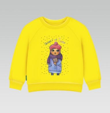 Привет из Тулы - Cвитшот Детский желтый 240гр, тонкая, Популярные