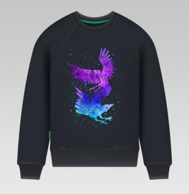 Вороны - Свитшот мужской темн-синий 340гр, теплый, Популярные