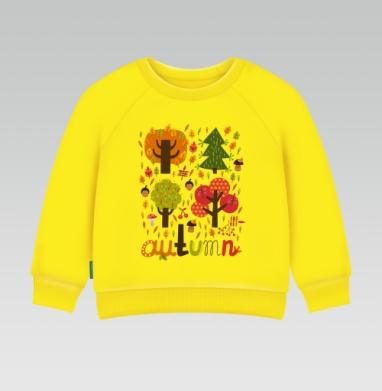 Autumn, Cвитшот Детский желтый 240гр, тонкая