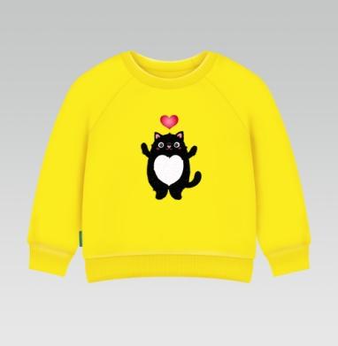 Cвитшот Детский желтый 240гр, тонкая - Толстотик