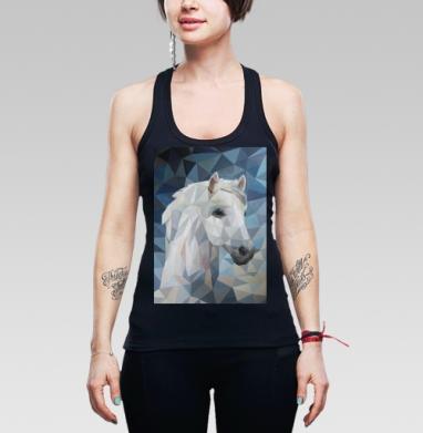 Белая_Лошадь - Борцовка женская чёрная рибана 200гр