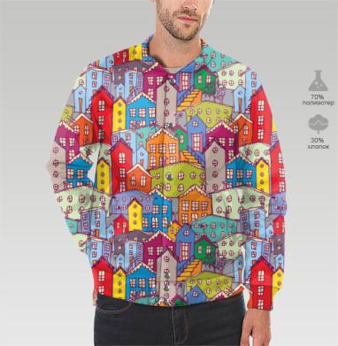 Яркие домики, Бомбер мужской 3D