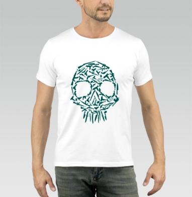 Череп ганнс - Купить мужские футболки с оружием в Москве, цена мужских футболок с оружием  с прикольными принтами - магазин дизайнерской одежды MaryJane