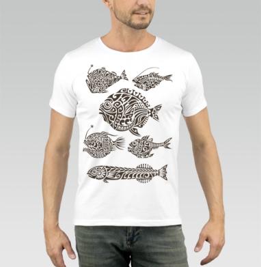 Глубоководные - Купить мужские футболки с китами в Москве, цена мужских футболок с китом с прикольными принтами - магазин дизайнерской одежды MaryJane