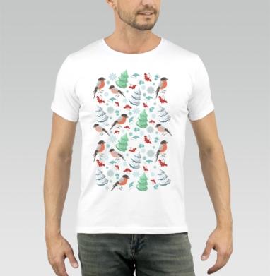 Зимний паттерн - Купить мужские футболки паттерн в Москве, цена мужских футболок с паттерном  с прикольными принтами - магазин дизайнерской одежды MaryJane
