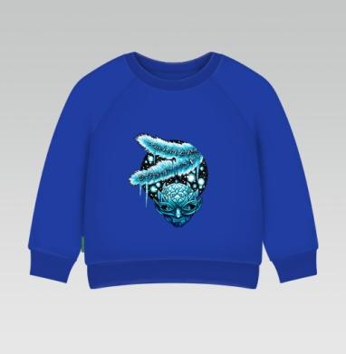 Зима здесь - Cвитшот Детский Синий 320гр, стандарт