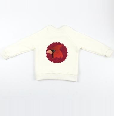 Cвитшот Детский Экрю 320гр, стандарт - Red Cardinal